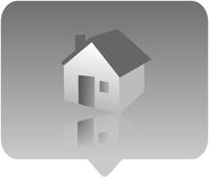 Het pictogram van het huis royalty-vrije illustratie