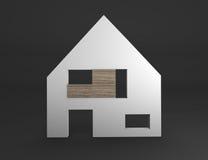 Het pictogram van het huis Stock Foto