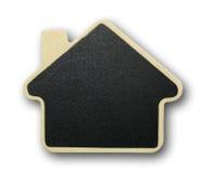 Het pictogram van het huis dat van hout wordt gemaakt Stock Fotografie