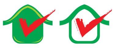 Het pictogram van het huis met teken Royalty-vrije Stock Foto