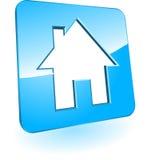 Het pictogram van het huis op een raad Royalty-vrije Stock Foto's