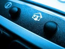 Het pictogram van het huis op toetsenbord Stock Fotografie