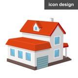 Het Pictogram van het huishuis Royalty-vrije Stock Afbeeldingen