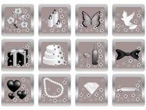 Het pictogram van het huwelijk Royalty-vrije Stock Afbeelding