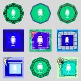 Het pictogram van het kalenderteken het symbool van de dagenmaand Datumknoop Stock Afbeeldingen