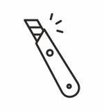 Het pictogram van het kantoorbehoeftenmes Royalty-vrije Stock Afbeelding