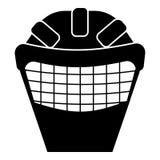 Het pictogram van het keepermasker, eenvoudige stijl Royalty-vrije Stock Foto's