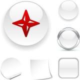 Het pictogram van het kompas. Royalty-vrije Stock Afbeeldingen