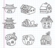 Het pictogram van het krabbelhuis Royalty-vrije Stock Fotografie