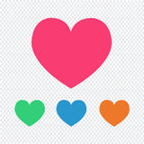 Het pictogram van het liefdehart stock illustratie
