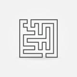 Het pictogram van het lijnlabyrint Stock Fotografie