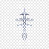 Het pictogram van het machtsnet Stock Afbeeldingen