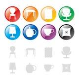 Het pictogram van het meubilair Stock Afbeeldingen