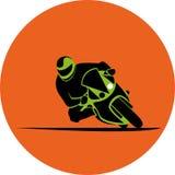 Het pictogram van het motorfietsras Stock Foto