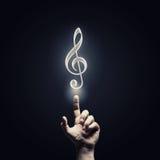 Het pictogram van het muziekconcept Stock Foto