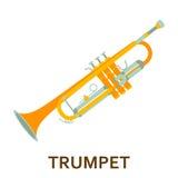 Het pictogram van het muziekinstrument trompet royalty-vrije illustratie