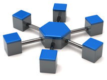 Het pictogram van het netwerk Stock Afbeeldingen