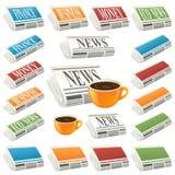 Het pictogram van het nieuws vector illustratie