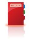 Het pictogram van het notitieboekje, klem-kunst Stock Foto