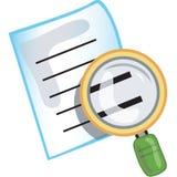 Het pictogram van het onderzoek Royalty-vrije Stock Afbeeldingen