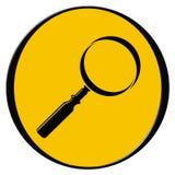 Het pictogram van het onderzoek Vector Illustratie