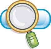 Onderzoekspictogram stock afbeelding