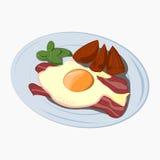 Het pictogram van het ontbijtbeeldverhaal stock illustratie