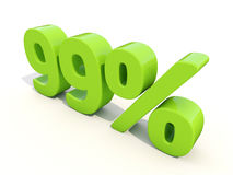 99% het pictogram van het percentagetarief op een witte achtergrond Stock Foto's