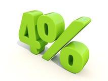 4% het pictogram van het percentagetarief op een witte achtergrond Stock Afbeeldingen