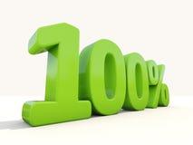 100% het pictogram van het percentagetarief op een witte achtergrond Stock Afbeeldingen