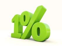 1% het pictogram van het percentagetarief op een witte achtergrond Royalty-vrije Stock Fotografie