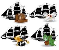Het pictogram van het piraatschip Royalty-vrije Stock Foto