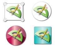 Het pictogram van het potlood Royalty-vrije Stock Foto's