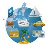 Het pictogram van het reisconcept Stock Foto's