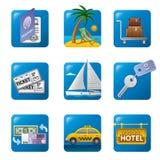 Het pictogram van het reisconcept Stock Foto