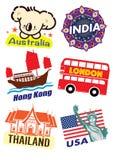 Het pictogram van het reisoriëntatiepunt stock illustratie