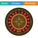 Het Pictogram van het roulettewiel Royalty-vrije Stock Afbeelding