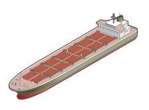 Het Pictogram van het Schip van de Bulk-carrier. De Elementen van het ontwerp 41d Royalty-vrije Stock Foto