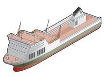 Het Pictogram van het Schip van de veerboot. De Elementen van het ontwerp 41g Royalty-vrije Stock Foto's