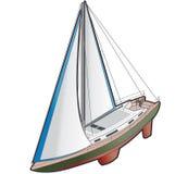 Het Pictogram van het Schip van de zeilboot. De Elementen van het ontwerp 41k Stock Afbeelding