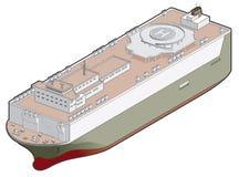 Het Pictogram van het Schip van ro/ro. De Elementen van het ontwerp 41f Royalty-vrije Stock Afbeeldingen