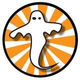 Het pictogram van het spook met oranje stralen Vector Illustratie