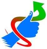 Het pictogram van het succes Stock Afbeelding
