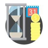 Het pictogram van het tijdgeld royalty-vrije illustratie