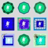 Het pictogram van het updateteken Het volledige symbool van de omwentelingspijl reeks Stock Fotografie