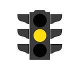 Het pictogram van het verkeerslichtsignaal Royalty-vrije Stock Fotografie