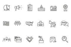 Het pictogram van het verkiezingsonderwerp Stock Foto
