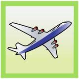 Het pictogram van het vliegtuig. Royalty-vrije Stock Fotografie