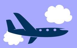 Het pictogram van het vliegtuig Stock Afbeelding