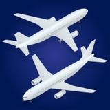 Het pictogram van het vliegtuig Vlakke 3d isometrische hoogte - kwaliteit Royalty-vrije Stock Foto